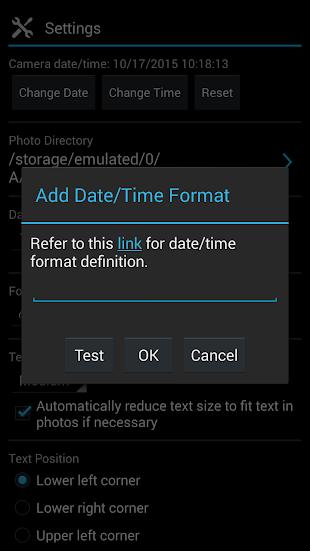 Camera Timestamp- screenshot thumbnail