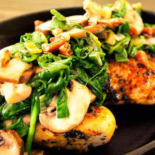 Spinach and Mushroom Chicken.