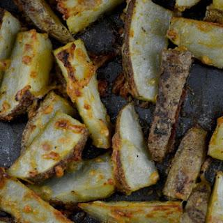 Crispy Garlic Parmesan Potato Wedges
