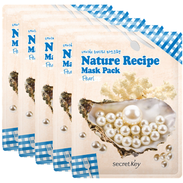 [SECRET KEY] Nature Recipe Mask Pack Pearl 20g x 5 (5 pieces) by Supermodels Secrets