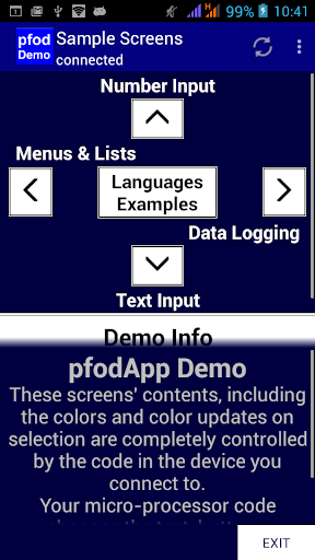pfodApp Demo Version