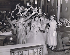 Photo: 1954 May Procession_Shirley Simms_May Queen_St Cyprian Parish