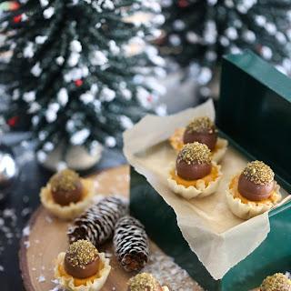 Pumpkin Spice Tarts with Milk Chocolate Truffles