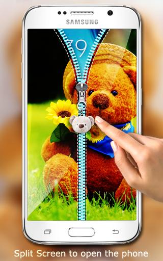 玩免費工具APP|下載泰迪熊拉链锁屏 app不用錢|硬是要APP