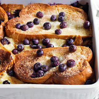Overnight Blueberry-Lemon-Cream Cheese French Toast Recipe