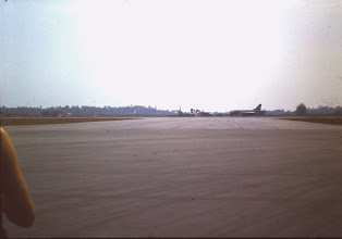 "Photo: Lightning ""Delta"" has just landed with a known damaged tyre, Butterworth, (Feb 1968)"