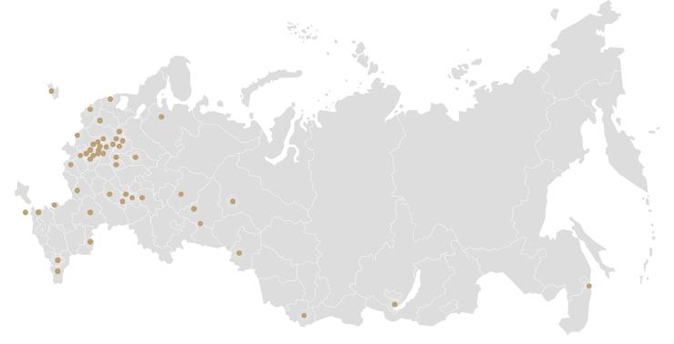 На выставке представлены картины со всех уголков России