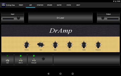 DrAmpFree - USB Guitar Amp 1.56 screenshots 1