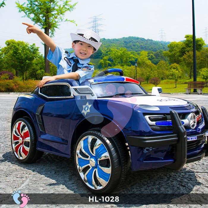 Xe ô tô điện cảnh sát HL-1028 4