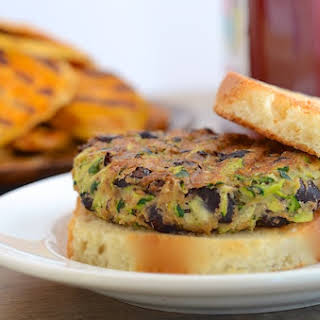 Zucchini and Black Bean Veggie Burgers (vegan).