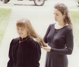 Photo: Nov. 1994: Solveig Fretheim and Becky Lister