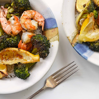 Spicy Roasted Shrimp & Broccoli.