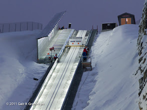 Photo: Ski flying Vikersund HS225 - The start gates in the world's largest ski jumping hill