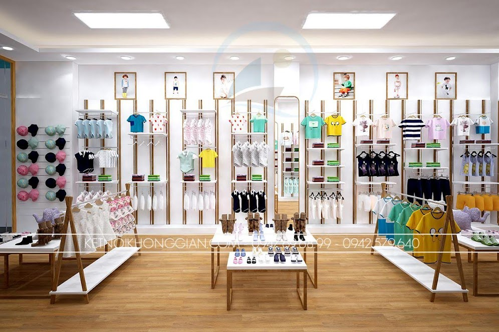 thiết kế shop thời trang trẻ em 5