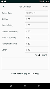 LDS Tithing Report – Apps on Google Play