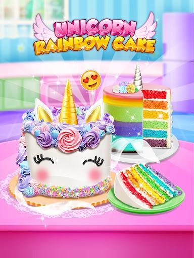 Unicorn Food - Sweet Rainbow Cake Desserts Bakery for PC