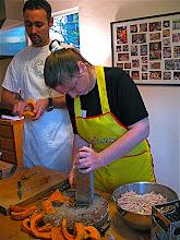Photo: preparing kabocha