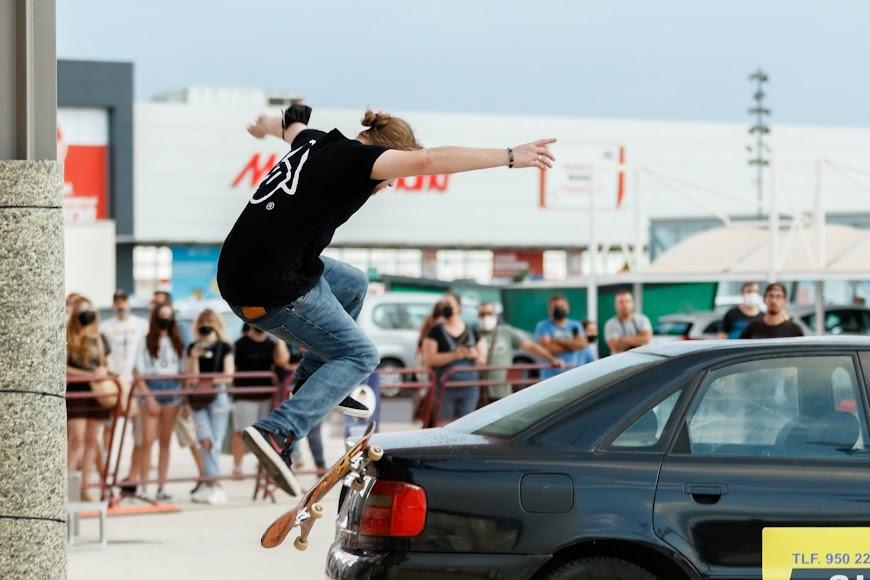 Exhibición de skate en el CC Torrecárdenas.