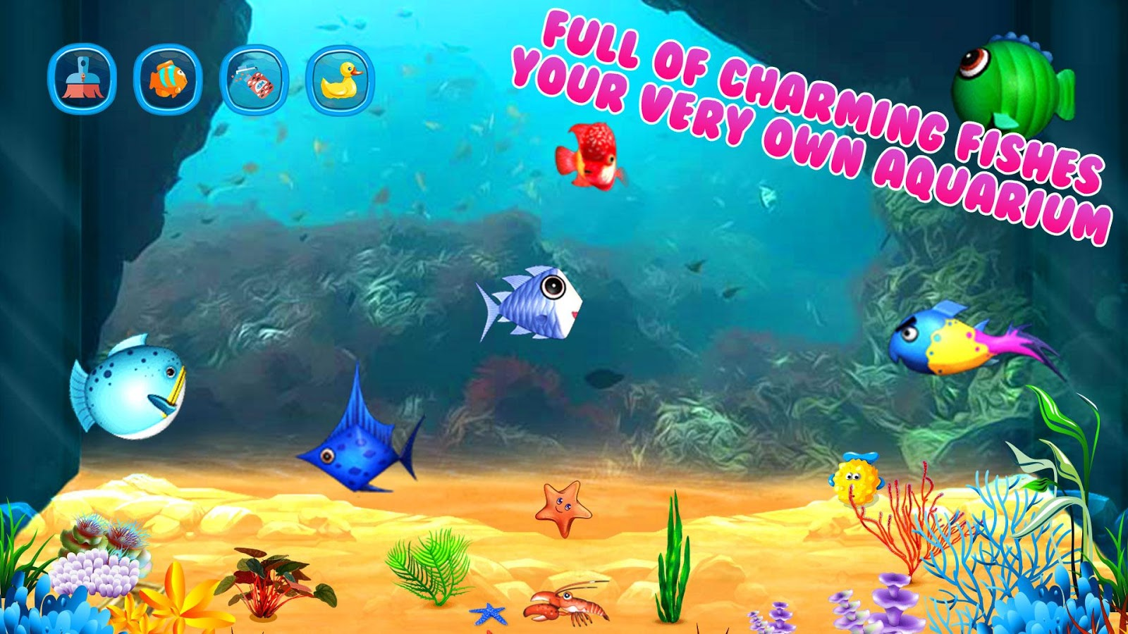My fish aquarium fish care android apps on google play for Fish tank game