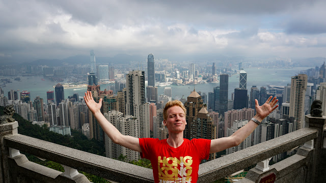 Taking in the views at Victoria Peak, HK in Hong Kong, , Hong Kong SAR