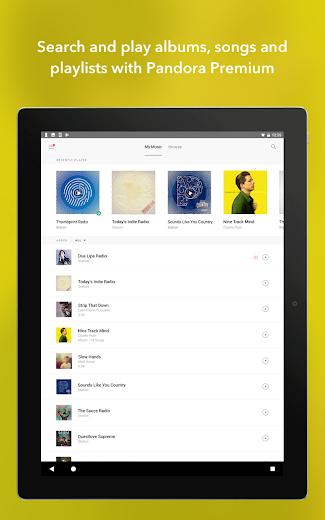 Screenshot 14 for Pandora's Android app'