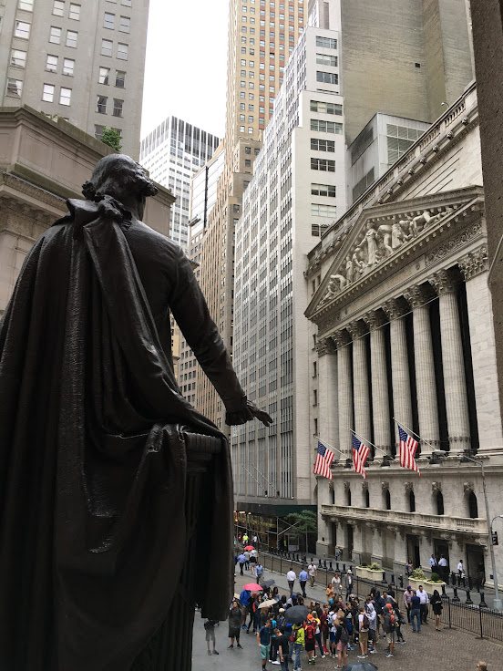 Washington stares at the NYSE.