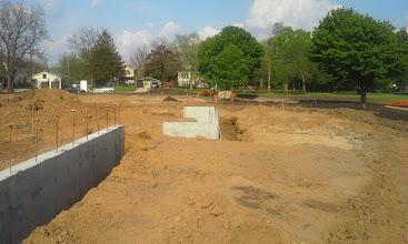 Photo: 1st Base Dugout Foundation 05-20-2014