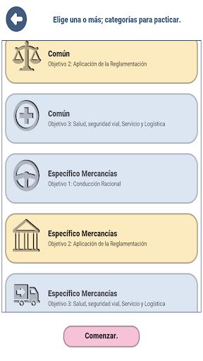 Examen CAP Mercancu00edas Espau00f1a DGT 4.5.2 screenshots 2