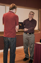 Photo: Greg Durrett accepting the Chair's Special Award.