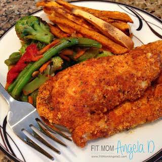 Zesty Almond Crusted Chicken.