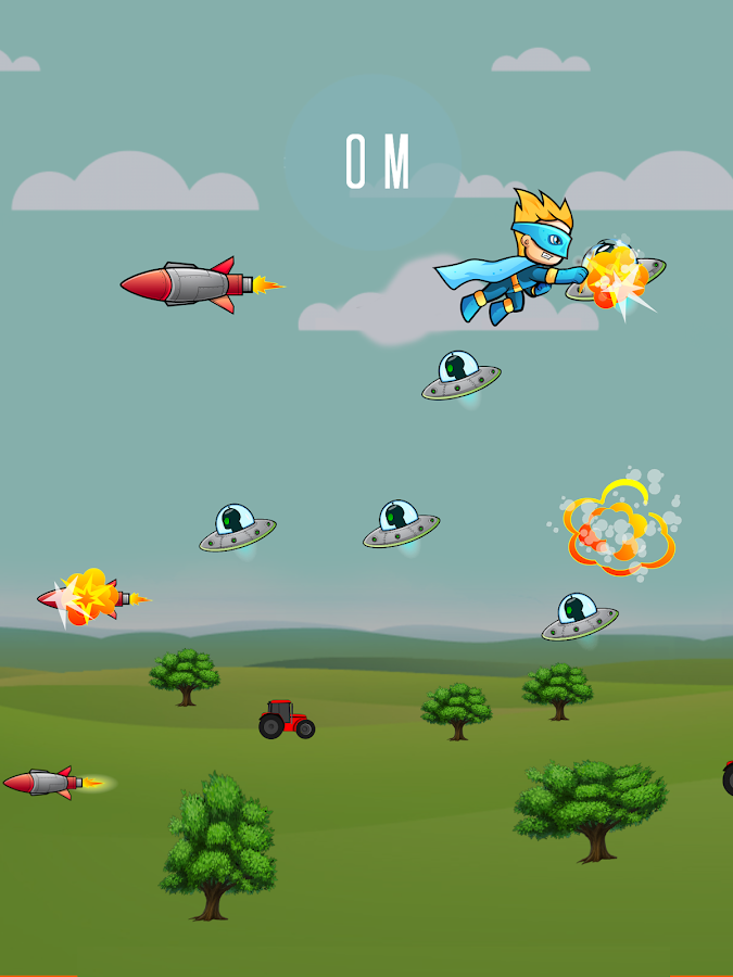 Super Heroes vs Alien Invaders- screenshot