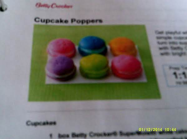 Cupcake Poppers Recipe