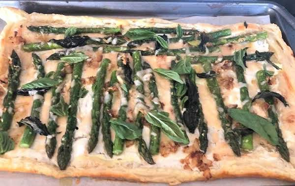 Asparagus Puff Pastry Flat Bread Pizza