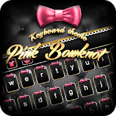 Pink Bowknot Keyboard Theme