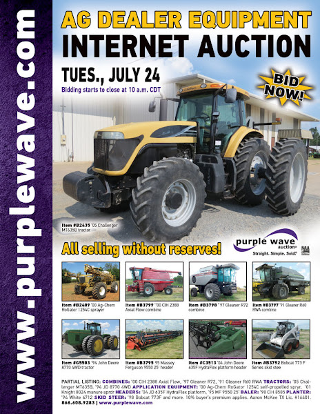 Photo: Ag Dealer Inventory Reduction Auction July 24, 2012 http://purplewave.co/120724