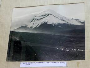 Photo: Heavy snow load on Chimborazo volcano, 1911