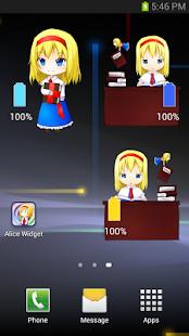 Alice Battery Widget - náhled