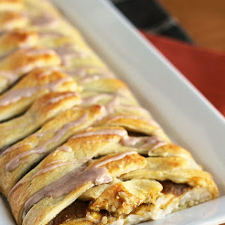 Pumpkin Cream Cheese Crescent Braid