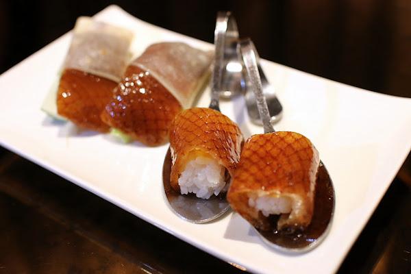 典華-華亭聚*超驚豔級美味的烤鴨壽司! 台北必吃烤鴨推薦