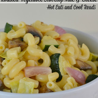 Roasted Vegetable Stovetop Macaroni and Cheese.