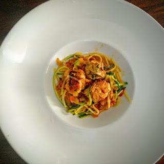 Day 11-Zuchinni Spaghetti in Chicken Meatballs
