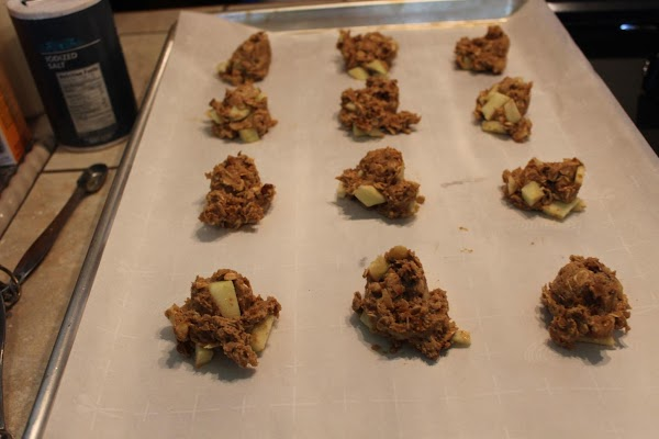 Scoop dough onto cookie sheets 2 inches apart. Bake for 10-12 minutes until edges...