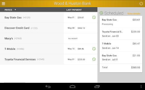 Wood & Huston Bank screenshot 9
