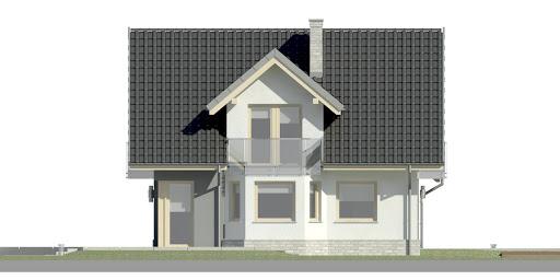 Dom przy Cyprysowej 15 K3 - Elewacja lewa