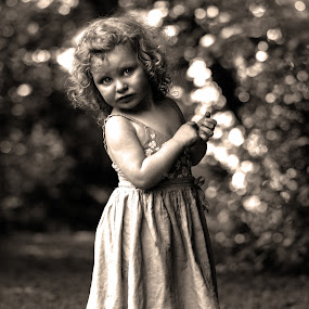 phoebe by Tracey Dobbs - Black & White Portraits & People ( child, sepia, portrait )