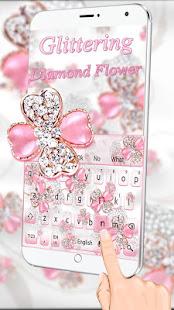 Glittering Diamond Flower Keyboard