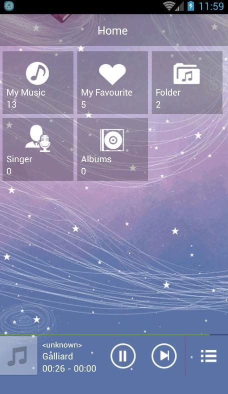 Lecture Musique Mp3 – Capture d'écran