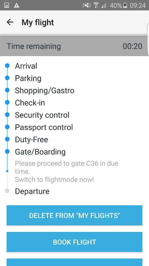 DUS Airport App- screenshot