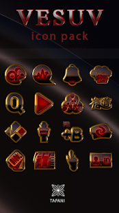 Vesuv icon pack red glow gold black Screenshot