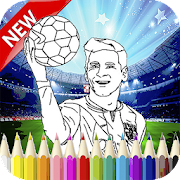 Messi and FCB Coloring Book